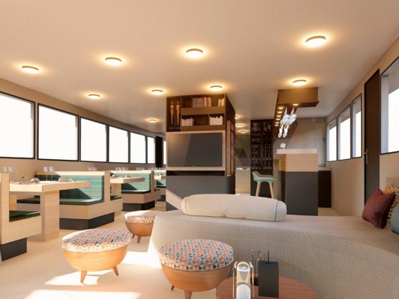 Galapagos-Kreuzfahrt Bonita Lounge bei Galapagos Pro