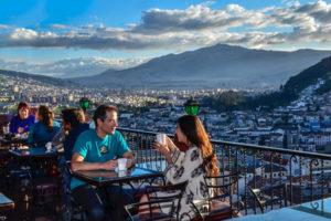 Terrasse mit Aussicht in Quito